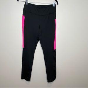 Girls black and pink leggings Sz XL